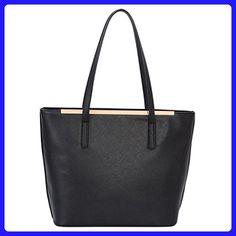d0ef99d58cd DAVIDJONES Women s Top Handle Shoulder Handbags Tote Purse Black - Top  handle bags ( Amazon