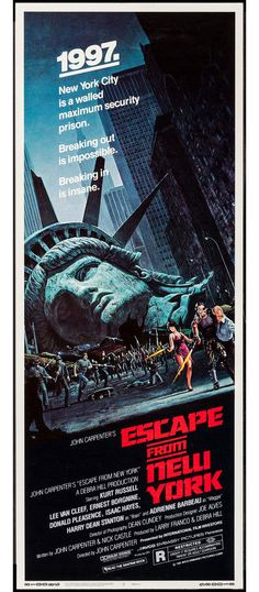 escape from new york movie poster. poster is better than the movie. Sci Fi Movies, Classic Films, Good Movies, Movie Posters Vintage, Cinema Posters, New York Movie, Science Fiction Movies, Best Movie Posters, B Movie