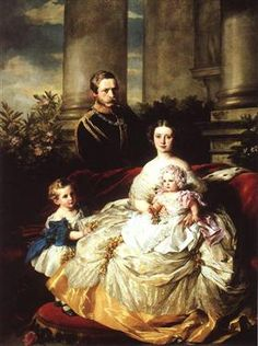 Emperor Frederick III of Germany, King of Prussia with his wife, Empress Victoria, and their children, Prince William and Princess Charlotte Artist: Franz Xaver Winterhalter Queen Victoria Children, Queen Victoria Family, Queen Victoria Prince Albert, Crown Princess Victoria, Victoria And Albert, Franz Xaver Winterhalter, Victoria's Children, Wilhelm Ii, Reine Victoria