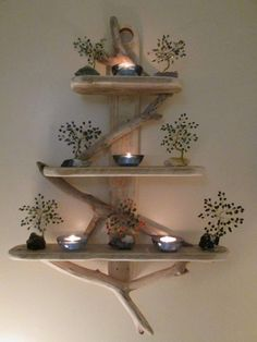 15 Unique DIY Rustic Wall Shelf Ideas For Awesome Home Decoration If you like rustic DIY wall shelves, then you should look at shelf projects. This is an excellent choice if you want to make & sell DIY to others. Rustic Wall Shelves, Rustic Walls, Rustic Shabby Chic, Rustic Decor, Driftwood Shelf, Diy Casa, Beautiful Houses Interior, Shabby Chic Furniture, Diy Furniture