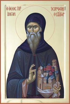 St Xenophon of Constantinople / foto van Razvan Gasca. Orthodox Icons, Hagiography, Byzantine Art, Art, Christian Art, Art Icon