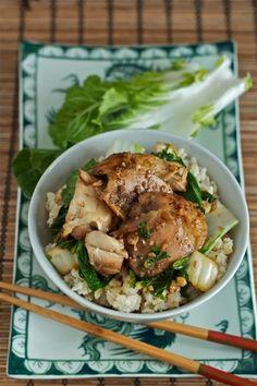 Vietnamese slow cooker chicken with bok choy (only 5 minutes of prep) | yankeekitchenninja.com