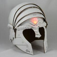 Northern Guardian Helmet Cosplay Armor, Cosplay Diy, Cosplay Costumes, Costume Tutorial, Cosplay Tutorial, Cardboard Sculpture, Cardboard Crafts, Knight Costume For Kids, Cardboard Costume