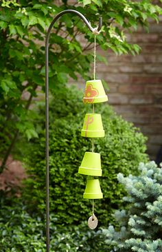 how to make wind chimes out of clay pots