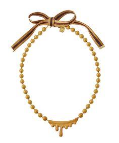 キャラメルメルトネックレス caramel melt necklace Q-pot.