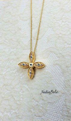 Σταύρος βάφτισης Christian Symbols, Gold Necklace, Womens Fashion, Christianity, Jewellery, Jewels, Accessories, Gold Pendant Necklace, Schmuck