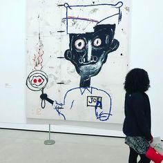 """Eyes & Eggs"" painting by Jean Michel Basquit #thebroad #museum #museumlife #thebroadmuseum #dtla #downtownla #cityofangels #eyesandeggs #jeanmichelbasquiat #basquiat #losangeles #discoverla #california #californialove #artlovers #artoftheday #artwork #art #painting #travelphotography #travelgram #travel #museumlover #observer"