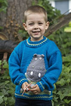 Knitting Patterns Galore - Hip Hippo-Ray! Pullover