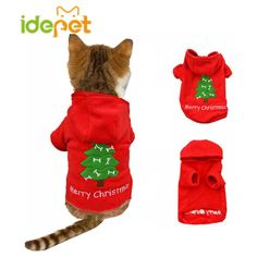 Cheap clothes for cats, Buy Quality clothes for directly from China clothes for pet Suppliers: Christmas Cat Clothes Warm Cat Coats Outfits Pet Clothes for Cat Party Halloween Funny Pet Costume Winter Dog Hoodie Cat Christmas Costumes, Halloween, Christmas Clothes, Winter Clothes, Christmas Animals, Christmas Cats, Christmas Trees, Christmas Tree Sweater, Christmas Hoodie