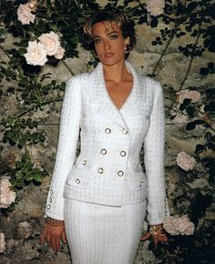 Timeless Fashion Tatjana Patitz for Chanel, 1992 Chanel Fashion, 90s Fashion, Couture Fashion, Fashion Photo, Runway Fashion, Vintage Fashion, Womens Fashion, Mode Outfits, Skirt Outfits