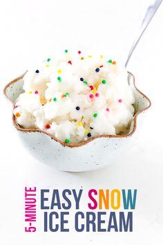 How To Make Snow Ice Cream | gimmesomeoven.com