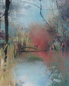 Painter's Process - Randall David Tipton Oxbow Slough 2 oil on canvas 20x16