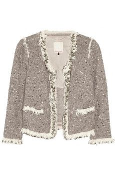 this Rebecca Taylorsequin trim tweed jacket is calling our name