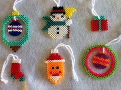Set of 6 Perler Bead Christmas Tree Ornaments. $6.00, via Etsy.