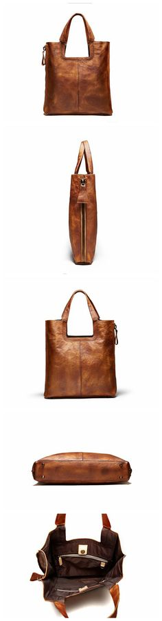 Handmade Full Grain Leather Tote Bag, Women Handbag, Designer Handbag F66