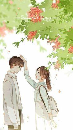 Tình yêu sắc hoa anh thảo❤ Cute Couple Art, Anime Love Couple, Manga Couple, Cute Anime Couples, Sweet Couples, Anime Art Girl, Manga Art, Anime Girls, Manga Anime
