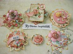 Romantic Peachy Pink Scrapbook por mydivineinspiration en Etsy