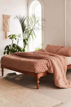 Shop Tufted Dot Comforter Snooze Set at Urban Outfitters today. Home Living, Living Spaces, Living Room, Small Living, Bedroom Inspo, Bedroom Decor, Bedroom Bed, Bedrooms, Bedroom Inspiration