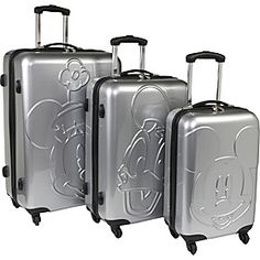 Disney Collection By Heys USA Mickey & Friends Embossed Face 3 Piece Spinner Set - eBags.com - MouseTalesTravel.com