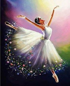 Diamond Painting Beautiful Ballerina Kit is part of pencil-drawings - You too can be an artist when you paint with Diamonds! Every kit gives you a chance to create a work of art you can be proud of This diamond painting kit Art Ballet, Ballerina Painting, Ballet Dancers, Ballerinas, Ballerina Kunst, Dance Paintings, Painting Art, Watercolor Painting, 5d Diamond Painting