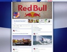 #Facebook #Timeline Brand Pages sample - Red Bull