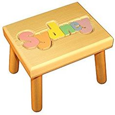 Looking for Damhorst Toys & Puzzles Personalized Wooden Child's Name Puzzle Stool Pastel Colors ? Check out our picks for the Damhorst Toys & Puzzles Personalized Wooden Child's Name Puzzle Stool Pastel Colors from the popular stores - all in one. Wooden Names, Wooden Puzzles, Personalized Puzzles, Personalized Baby, Name Puzzle, Wooden Steps, Toy Store, Kid Names, Kids House