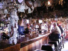 Salty Dawg Saloon...amazing, massive wooden bar