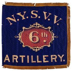"""The 6th Regiment Artillery, New York Volunteers, mustered into service for three years as the 135th New York Volunteer Infantry on September 2, 1862. Converted into an artillery regiment and designated the 6th Artillery on October 6, 1862, the regiment recruited and mustered (for 3 years) two more companies on December 4, 1862. When their term expired, those entitled were discharged and the regiment continued in service as """"Veteran Volunteers,"""" as indicated by the """"N.Y.S.V.V."""""""