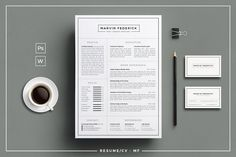 Resume/CV - MF, a clean & simple design with B&W style which includes one page resume/cv & cover letter, very easy & quickly to edit.  This is a perfect way to make a good first impression!
