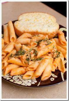 creamy marinara chicken pasta
