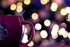 3 of my favorite things #coffee #starbucks #bokeh