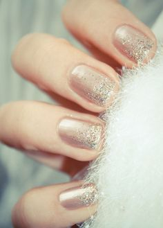 Add a little sparkle to your nails for the holidays.