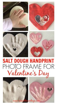 This is such a cute gift idea for grandparents! This hand print craft is perfect for Valentine's Day. You can easily make it with salt dough (the recipe is in the article). I love this fun DIY gift idea! #valentines Salt dough ornaments | salt dough recipe | keepsake | baby handprint ideas | grandparents gifts | father's day gifts