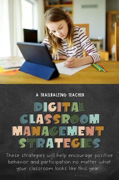 Here are some digital classroom management strategies that can be used during distance learning and hybrid teaching. Strategies include virtual classroom expectations, virtual classroom jobs, free digital marble jar, digital mystery rewards, digital classroom economy, and digital stickers. Classroom Economy System, Classroom Management Strategies, Teaching Strategies, Behavior Management, Teaching Resources, Teaching Ideas, Fun Classroom Activities, Classroom Jobs, Online Classroom