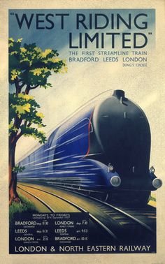 A great vintage poster for a train company in London.