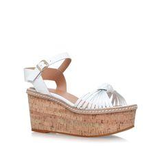 katrina white mid heel wedge sandals from Carvela Kurt Geiger