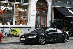Audi R-8. I could have kids or I coud have this car... Hrmmm!