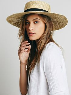 Free People Spencer Wide Brim Boater, C$97.40 | #styleparade #style #hat #freepeople #fashion #boaterhat