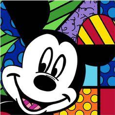 Romero Britto, Hey You, Mickey Serigraph on Gesso Board One in Available, Amour d'Art, Fine Art Gallery Disney Pop Art, Arte Disney, Diy Canvas Art, Canvas Art Prints, Arte Country, Cubism Art, Graffiti Painting, Graffiti Art, Ecole Art