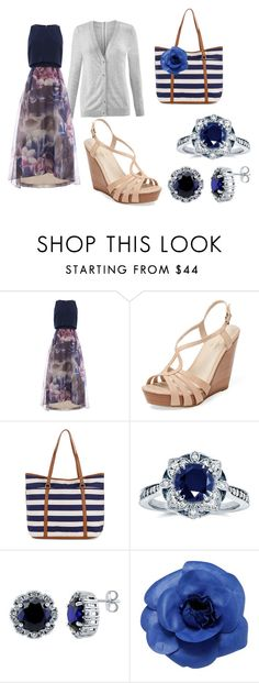 """Blue angel...."" by pista-suha ❤ liked on Polyvore featuring CAbi, Seychelles, Accessorize, Kobelli, BERRICLE and Chanel"