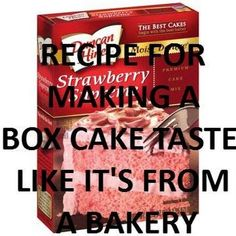 Make A Box Cake Taste Like Its From A Bakery