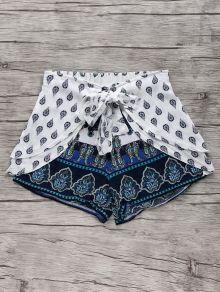 afef02403e96 Bohemian Print Wide Leg Shorts Bohemian Shoes, Bohemian Print, Diy Shorts,  Cute Shorts