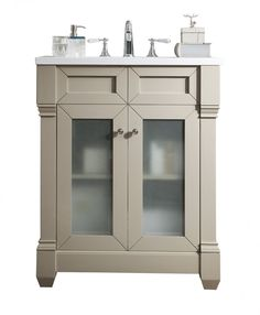 James Martin Signature Vanities Weston 30 in. W Single Vanity in Sea Gull with Quartz Vanity Top in White with White Basin - The Home Depot 30 Vanity, Glass Vanity, Single Sink Bathroom Vanity, Vanity Cabinet, Bathroom Medicine Cabinet, Bathroom Vanities, Double Vanity, Bathrooms, James Martin Vanity