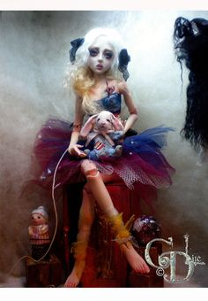 Forgotten Doll ball jointed art doll by artist Connie D'Angelo ( aka cdlite )