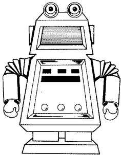 1000 images about Robot colouring