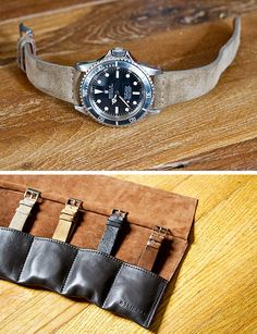 Hodinkee's leather watch strap, via Anchor Division
