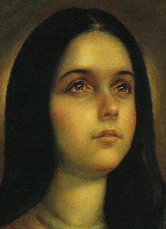 Marie, notre Sainte Mère (detail) d'après l'image de Guadalupe au Mexique # par Jorge Sánchez Hernández- peintre mexicain
