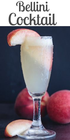 This Classic Bellini Cocktail is made with only two ingredients, peaches & Prosecco. An Italian drink that is perfect for brunch or as an aperitif. Bellini Cocktail, Cocktail Drinks, Pina Colada, Belini Recipe, Peach Drinks, Italian Cocktails, Summertime Drinks, Cocktails, Drink