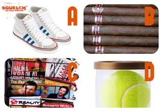 What is the best new smell?  A.) Sneakers B.) Cigars C.) Magazines D.) Tennis Balls