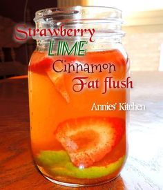 Strawberry Lime Cinnamon Fat Flush by Annie's Kitchen
